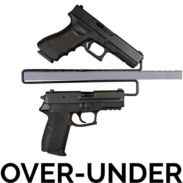 Gun Storage Solutions Over Under Handgun Hanger Ouhh2