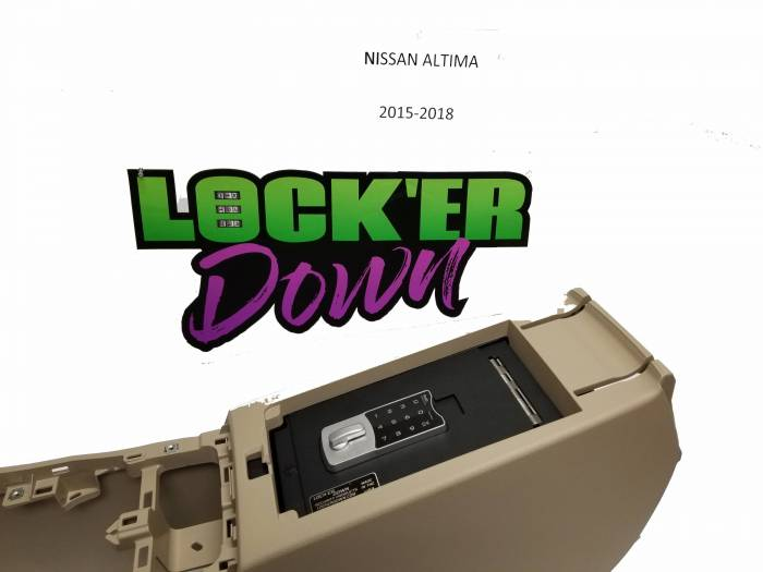 Locker Down Console Safe 2015-2018 Nissan Altima Model LD6022