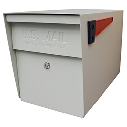 MailBoss 7107 Locking Security Mailbox - White