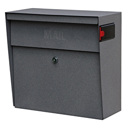 MailBoss 7161 Metro Wall Mount Locking Mailbox - Granite