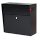 MailBoss 7162 Metro Wall Mount Locking Mailbox - Black - GS7162