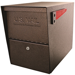 MailBoss 7208 Package Master Locking Security Mailbox - Bronze
