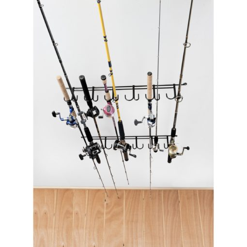 Rackem 7009 Overhead Indoor/Outdoor 12 Rod Rack