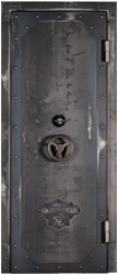 "Rhino Ironworks Vault Door Series - 80"" H x 30"", 35"", 40"", 45"" W Vault Door, Ironworks, Rhino, Made in the USA"