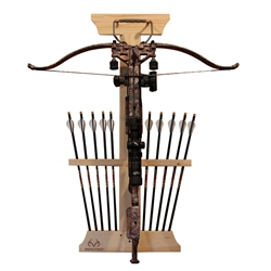 Rush Creek REALTREE 1-Crossbow 10 Arrow Wood Storage Rack