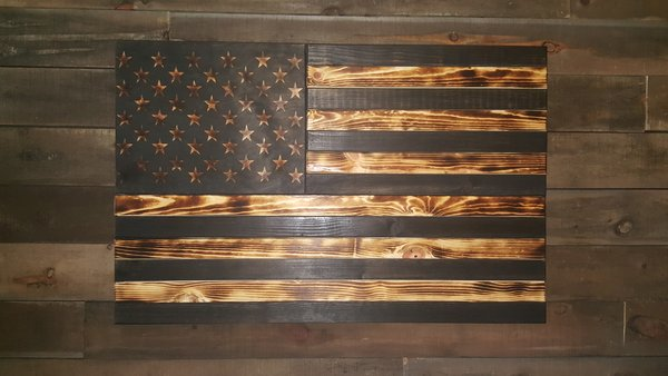 San Tan Wood Works - Burnt Concealment Flag (Large Size)