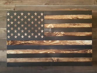 San Tan Wood Works - Burnt Concealment Flag (X-Large Size)