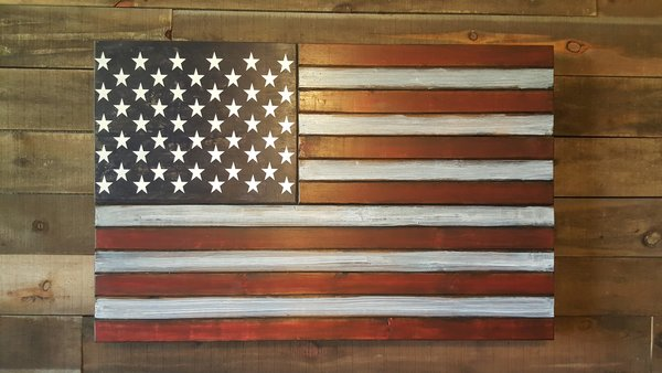San Tan Wood Works - Rustic Concealment Flag (X-Large Size)