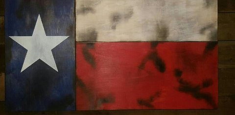 San Tan Wood Works - Texas Concealment Flag (Large Size)