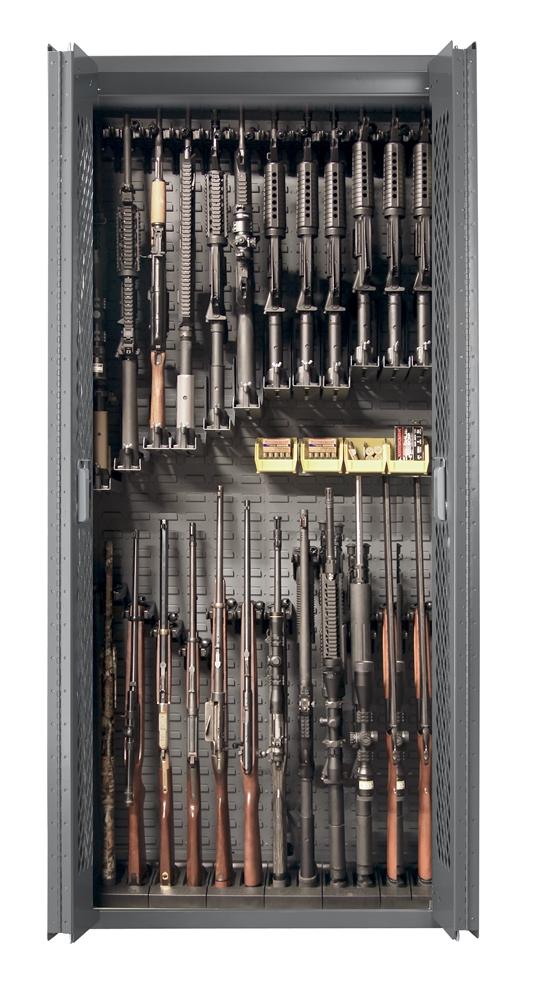 Secureit Tactical Model 84 24 Gun Storage Cabinet With Adjule Single Stock Shelves Sec