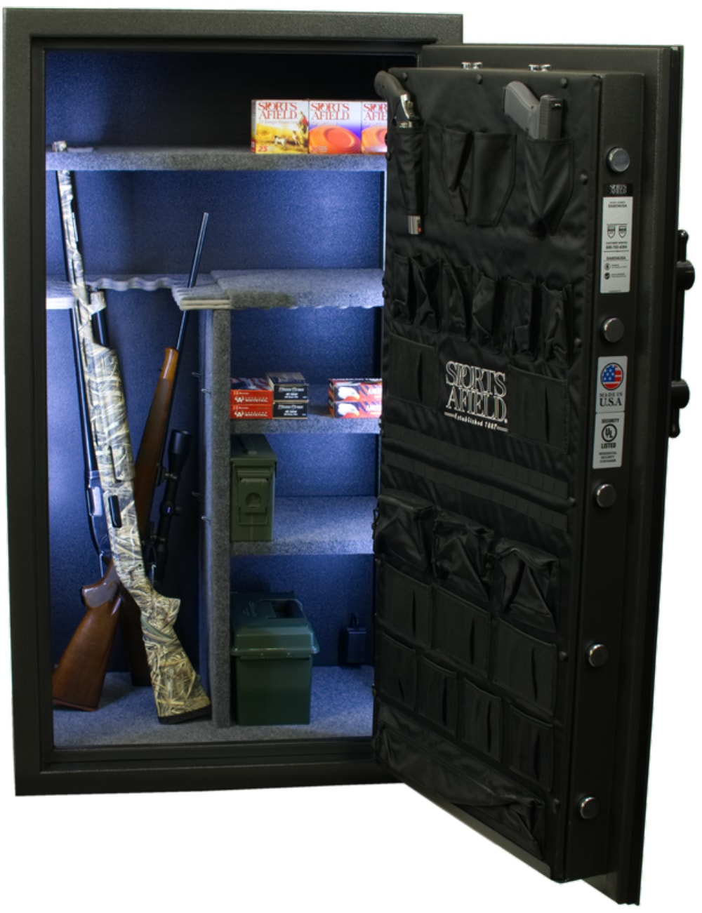 Black Gun Safe In Living Room Decor: Maximum Security Series
