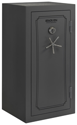 Stack-On Total Defense 36-40 Gun Safe w/Biometric Lock Grey Pepple
