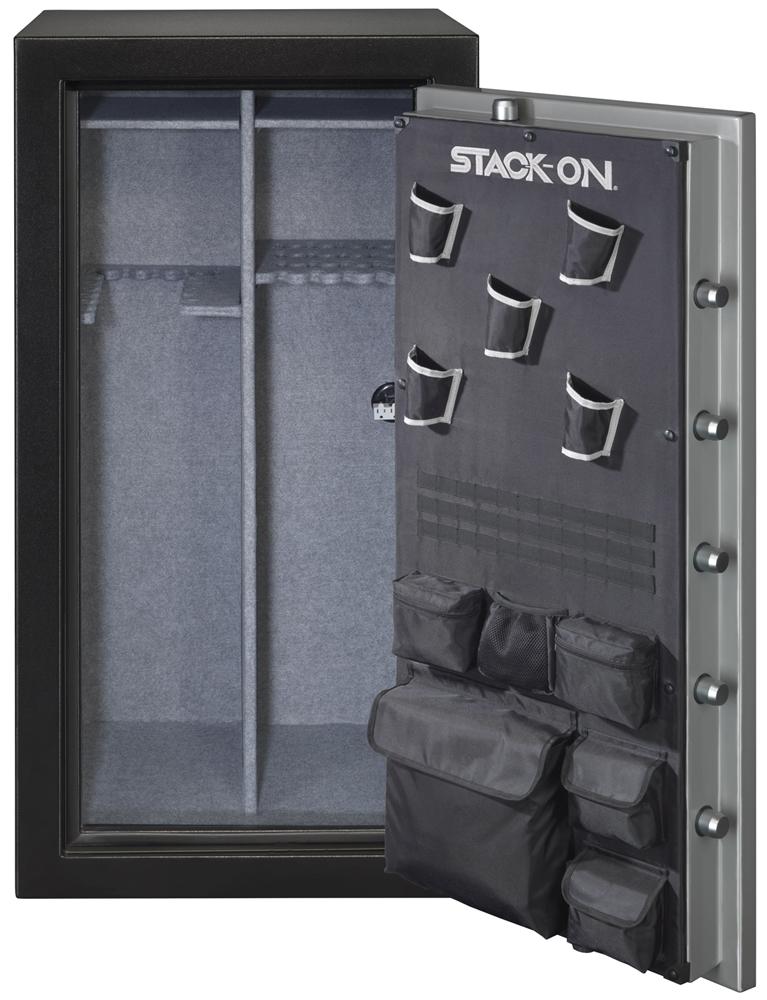Black Gun Safe In Living Room Decor: Stack-On 22-Gun Safe With Electronic Lock