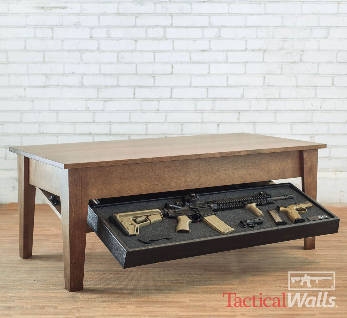 tactical walls coffee table rh gunsafes com coffee table gun safe blueprints