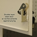 Protex WDC-160 Through-The-Wall Locking Drop Box With Chute - GSWDC-160
