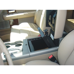Shown installed in vehicle - open